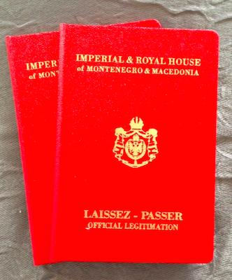 Pasaport diplomatic eliberat de Austria pentru Stefan Cernetic