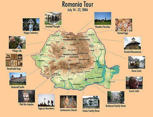 Harta Turistica A Romaniei Click Romania