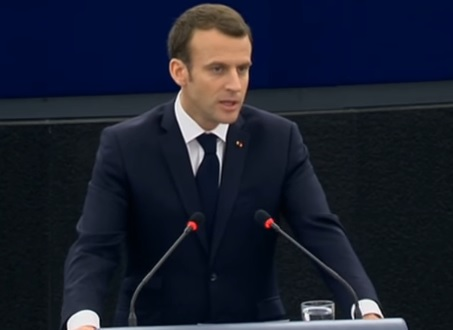Macron in fata Parlamentului European de la Strasbourg