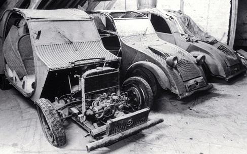 Trei prototipuri gasite in anii 90 dupa ce au fost ascunse in timpul razboiului