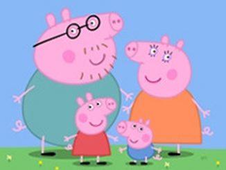 Peppa Pig este un desen animat popular pentru copii
