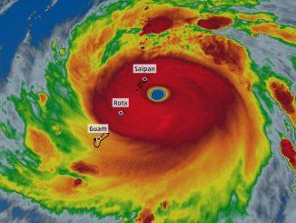 Super Taifunul Yutu în Oceanul Pacific