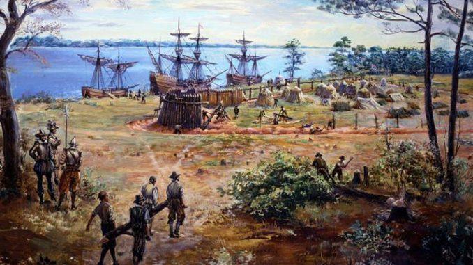 Colonişti în Jamestown, Virginia